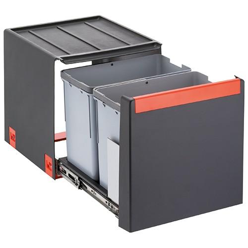 Franke šiukšlių rūšiavimo sistema 40 cm pločio spintelei CUBE 40 (2 x 14L)