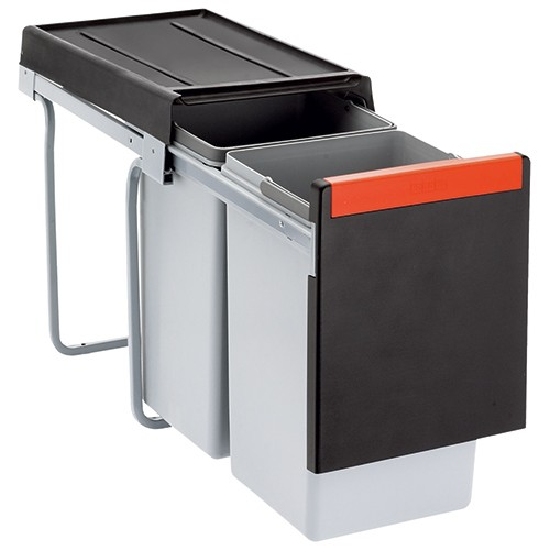 Franke šiukšliadėžė Cube 30 atidarymas ranka, 2 x 15 L