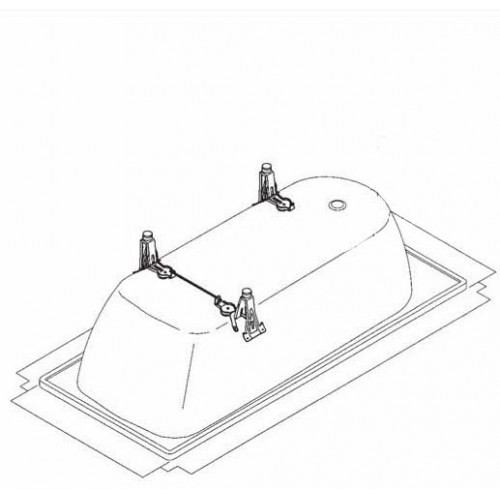 Kaldewei Allround metalinių vonios kojelių komplektas