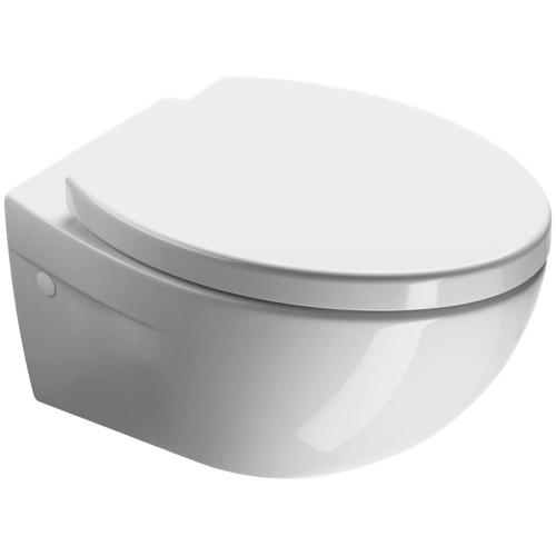 GSI Modo Compact pakabinamas klozetas su lėtai nusileidžiančiu dangčiu