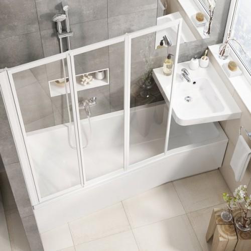 Asimetrinė akrilinė vonia Ravak BeHappy II 150*75