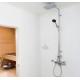 Termostatinė lietaus dušo sistema ORAS Optima 7193U su patogiomis suimti rankenėlėmis, rankiniu dušu ir snapu