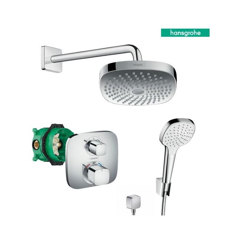 Hansgrohe Croma Select E 180 potinkinis dušo komplektas su termostatiniu maišytuvu