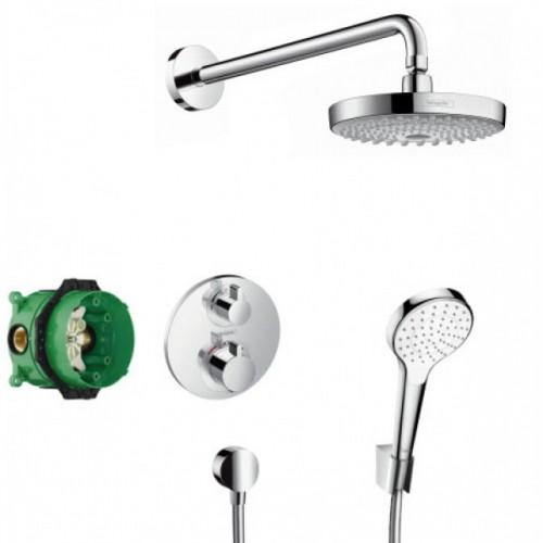Hansgrohe Croma Select S 180 potinkinis dušo komplektas su termostatiniu maišytuvu