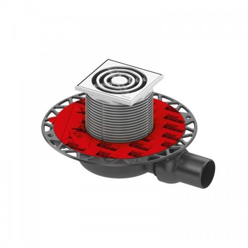 """TECEdrainpoint S 110 trapo komplektas, horizontalus, ypač plokščias, su """"Seal System"""" universaliu flanšu 3601100"""