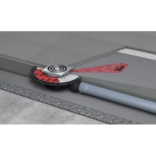 """TECEdrainpoint S 120 trapo komplektas, standartinis, horizontalus, su """"Seal System"""" universaliu flanšu 3601200"""
