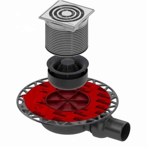"""TECEdrainpoint S 122 """"Sauso"""" tipo trapo komplektas, horizontalus, standartinis, su """"seal system"""" universaliu fanšu 3601202"""