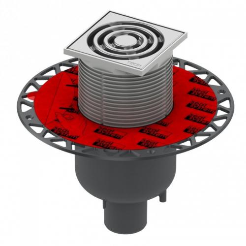 "TECEdrainpoint S 130 trapo komplektas, vertikalus, su ""Seal System"" universaliu flanšu 3601300"