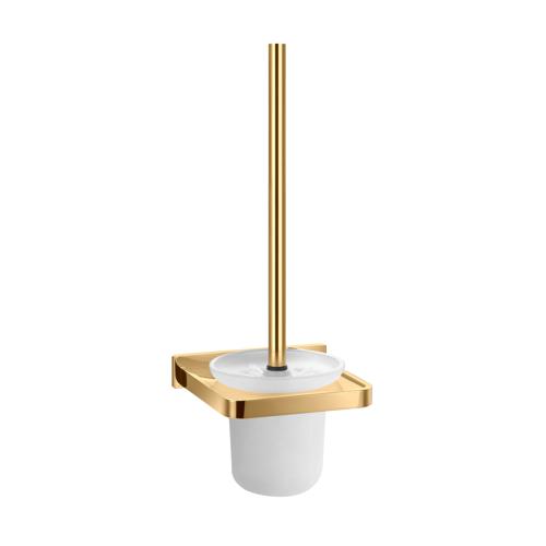 Pakabinamas tualetinis šepetys Omnires Darling aukso spalvos