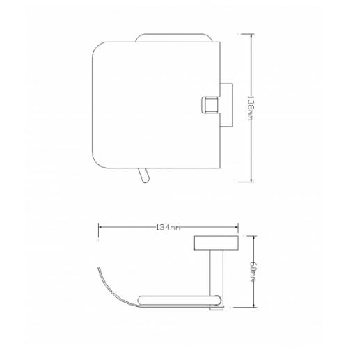 Tualetinio popieriaus laikiklis Omnires Lift 8151A