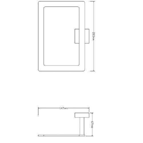 Omnires Lift 8160 stačiakampė rankšluosčių kabykla