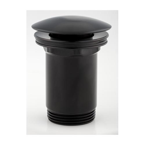 Juodos spalvos dugno vožtuvas praustuvui Click Clack Omnires A706BL