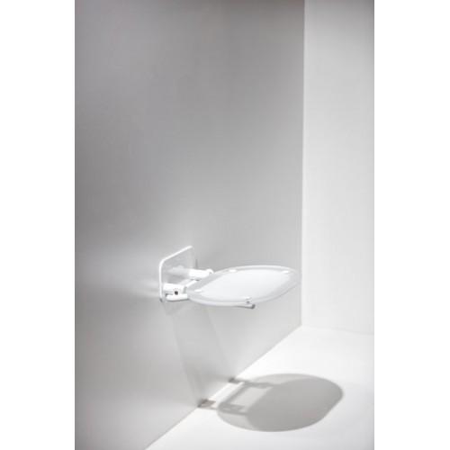 Atlenkiama dušo sėdynė Ravak OVO skaidri/balta