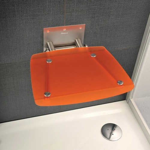 Atlenkiama dušo sėdynė Ravak OVO B orange