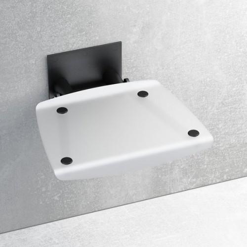 Atlenkiama dušo sėdynė Ravak OVO B satin/juoda