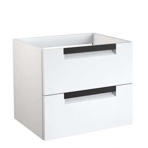 Kame Evoke 60x45cm apatinė spintelė su stalčiais, rankenos juodos (spalvų pasirinkimas)