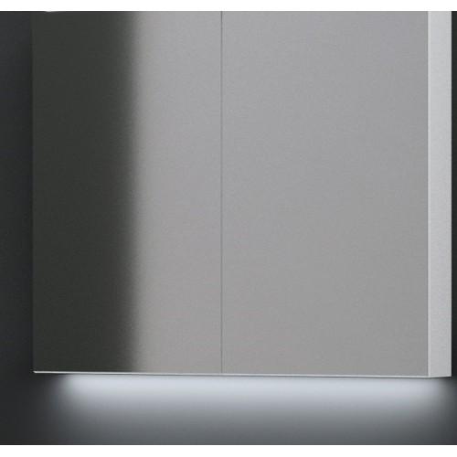 Kame Terra Garda 100cm veidrodinė spintelė su LED apšvietimu, blizgi balta, dvi durelės