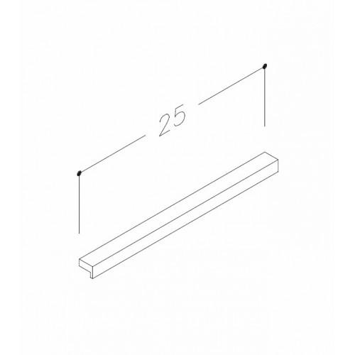 Kame baldinė rankenėlė 25cm, H2/250CH