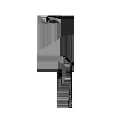 Omnires Baretti potinkinė dušo sistema SYSBA10BL, juoda matinė spalva