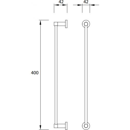 Rankšluosčių kabykla Omnires Modern Project  40 cm juoda matinė