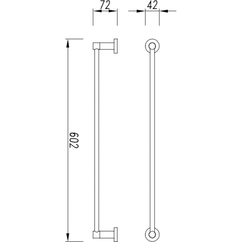 Rankšluosčių kabykla Omnires Modern Project  60,2 cm juoda matinė