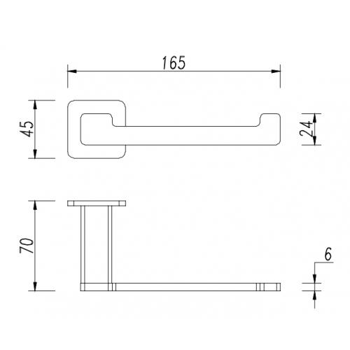Tualetinio popieriaus laikiklis Omnires Nelson NL80510CR