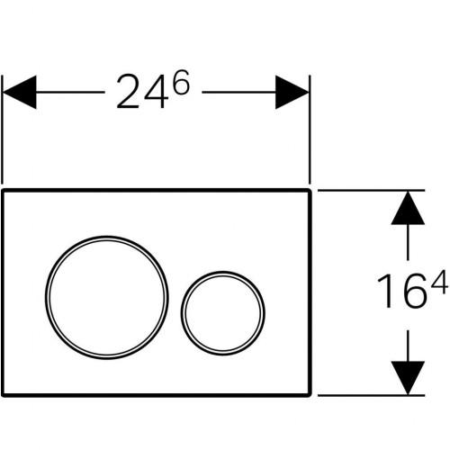 Nuleidimo mygtukas Geberit Sigma20 matinė juoda su chromo akcentu