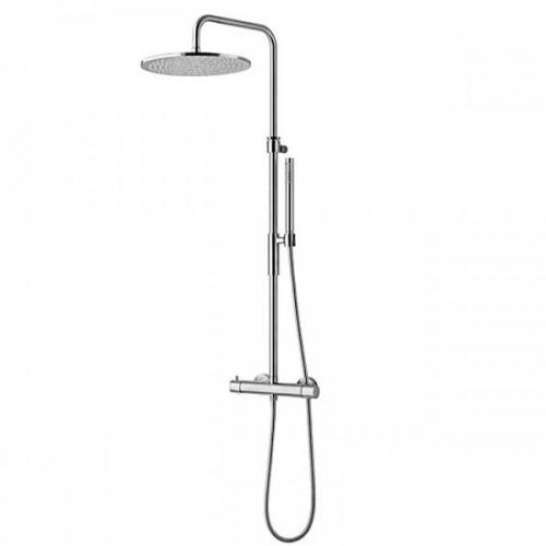 Virštinkinė termostatinė dušo sistema Paffoni Light šveisto nikelio sp. ZCOL 646KLIQ ST