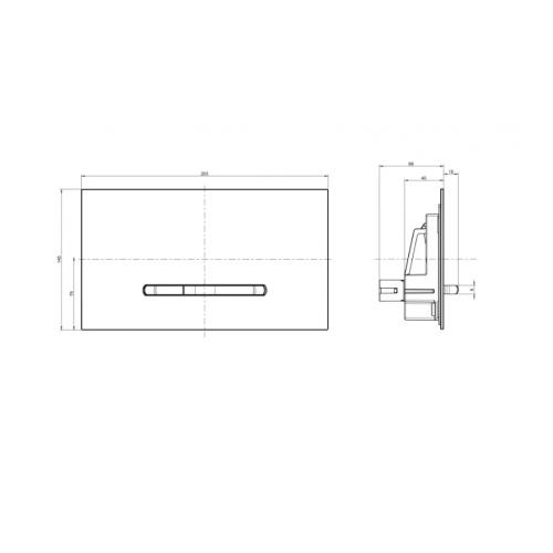 Nuleidimo mygtukas Villeroy&Boch ViConnect M300 juodos sp. stiklas