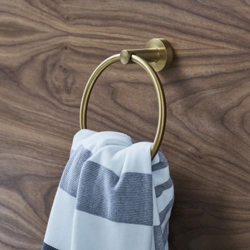 Britton Hoxon rankšluosčių lentynėlė su kabykla šveisto žalvario spalvos