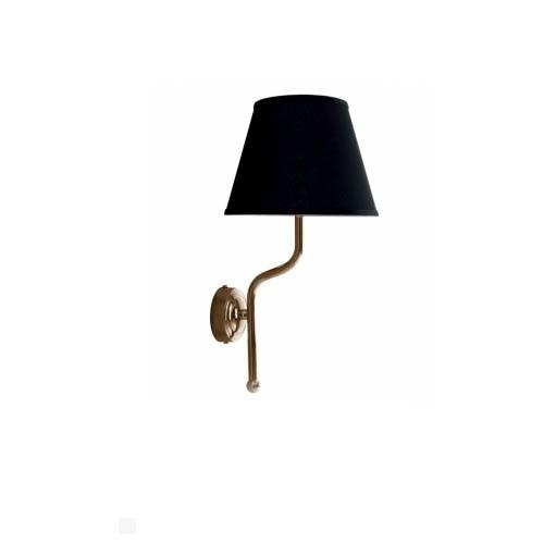 Kerasan Retro vonios kambario sieninis šviestuvas chromo spalvos su juodu šilko gaubtu 7367K0