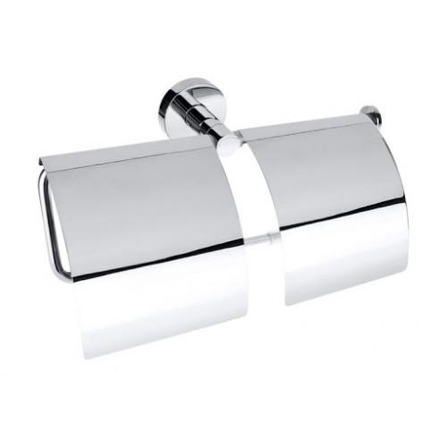 Dvigubas Bemeta Omega tualetinio popieriaus laikiklis su dangteliais