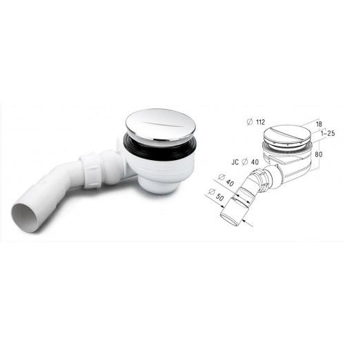 Sifonas dušo padėklui PAA Sifonas TURBOFLOW D 90mm (54 l/min)