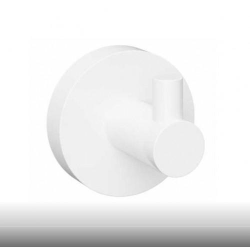 Bemeta White viengubas kabliukas baltos spalvos