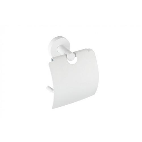 Bemeta White WC popieriaus laikiklis su dangteliu baltos spalvos