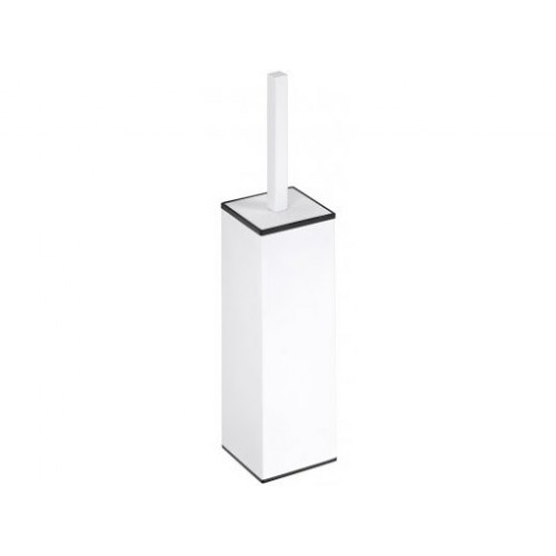 Bemeta White WC šepečio laikiklis pastatomas arba pakabinamas baltos spalvos su šepečiu