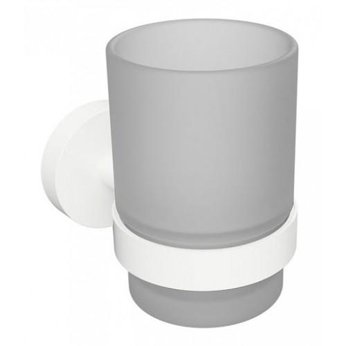 Bemeta White pakabinama stiklinė su laikikliu