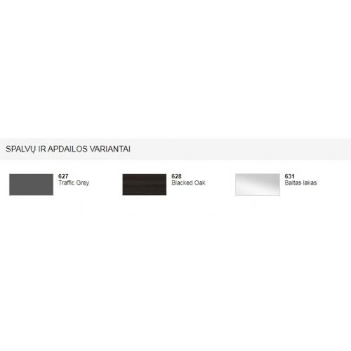 Laufen The New Classic tamsios juodo ąžuolo spalvos pintelė su praustuvu 120 x 48 cm