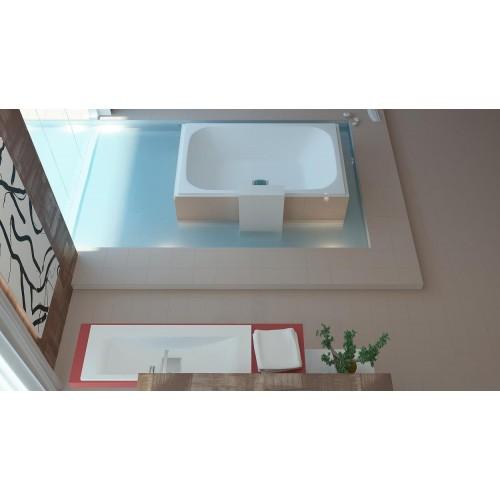 Vispool Libero Duo 190x120 cm stačiakampė akmens masės vonia