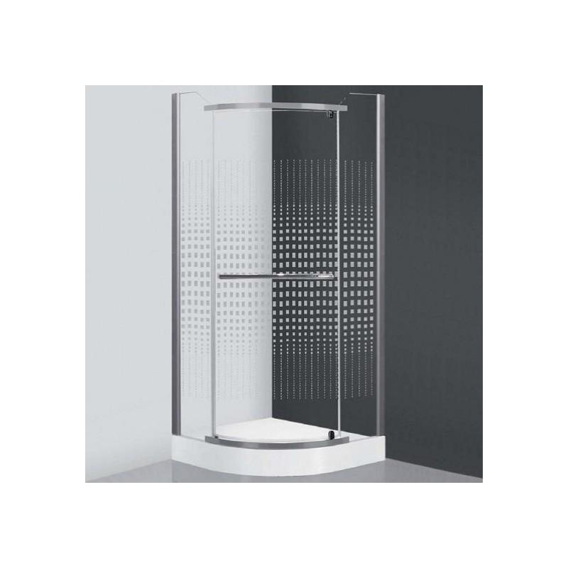 Pusapvalė dušo kabina SaniPro Austin/800