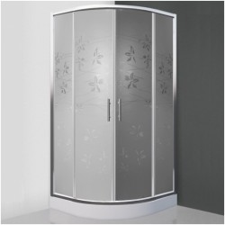 Pusapvalė dušo kabina SaniPro Flower Neo/800