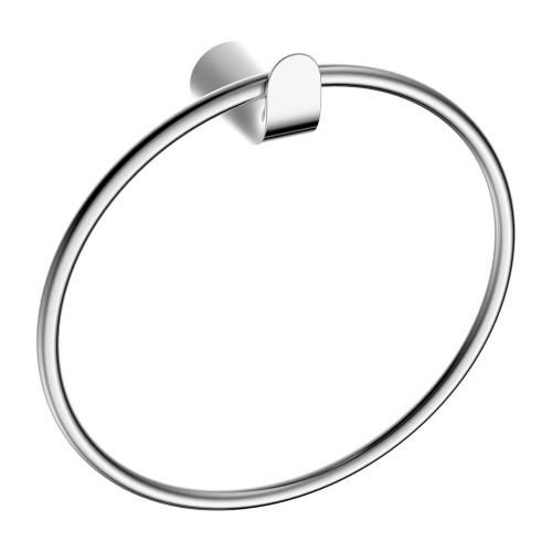 Rankšluosčių kabykla - žiedas Omnires Saco chromo/baltos spalvos