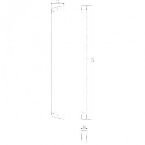 Rankšluosčių kabykla Omnires Saco chromo/baltos spalvos 63cm