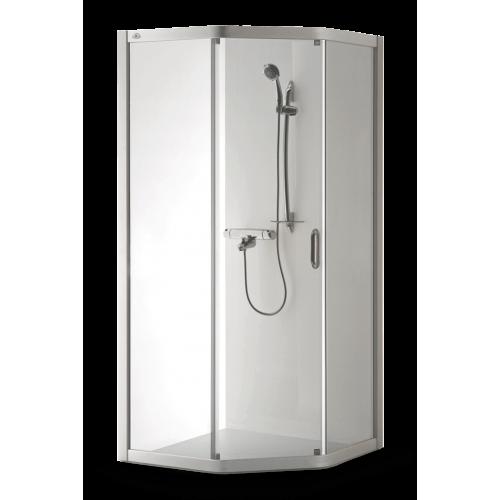 Brasta Glass penkiakampė dušo kabina Vaiva 90x90 cm, stiklo spalva pasirinktinai