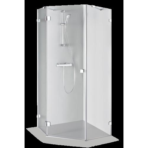 Brasta Glass penkiakampė dušo kabina Inga 90x90 cm, stiklo spalva pasirinktinai