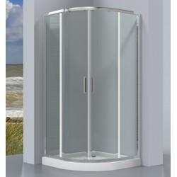 Pusapvalė dušo kabina Omnires Chelsea NDF90X, 900*900 mm
