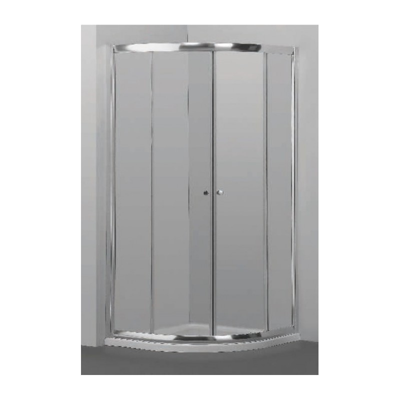 Pusapvalė dušo kabina Omnires Bronx, 900*900 mm