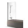 Brasta Glass vonios sienelė Maja 80x150cm, stiklo spalva pasirinktinai