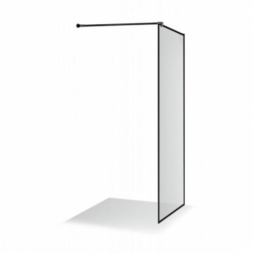 Brasta Glass dušo sienelė Dija 80 cm Nero Frame, stiklas skaidrus