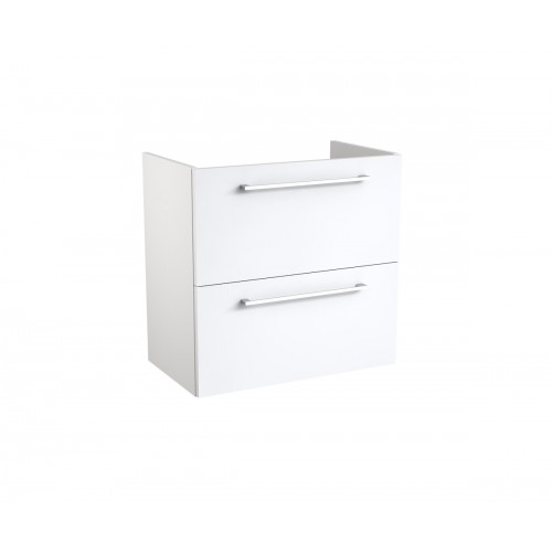 Kame Easy apatinė spintelė su dviem stalčiais 60x39 cm blizgi balta